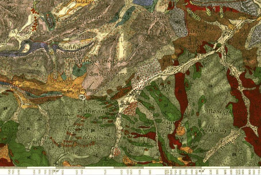 Ausschnitt aus gelologischer Karte