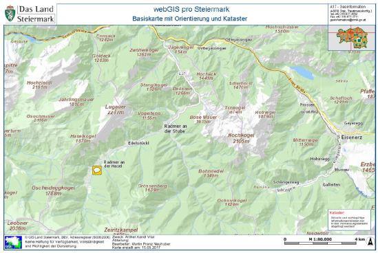Ausschnitt GIS Karte